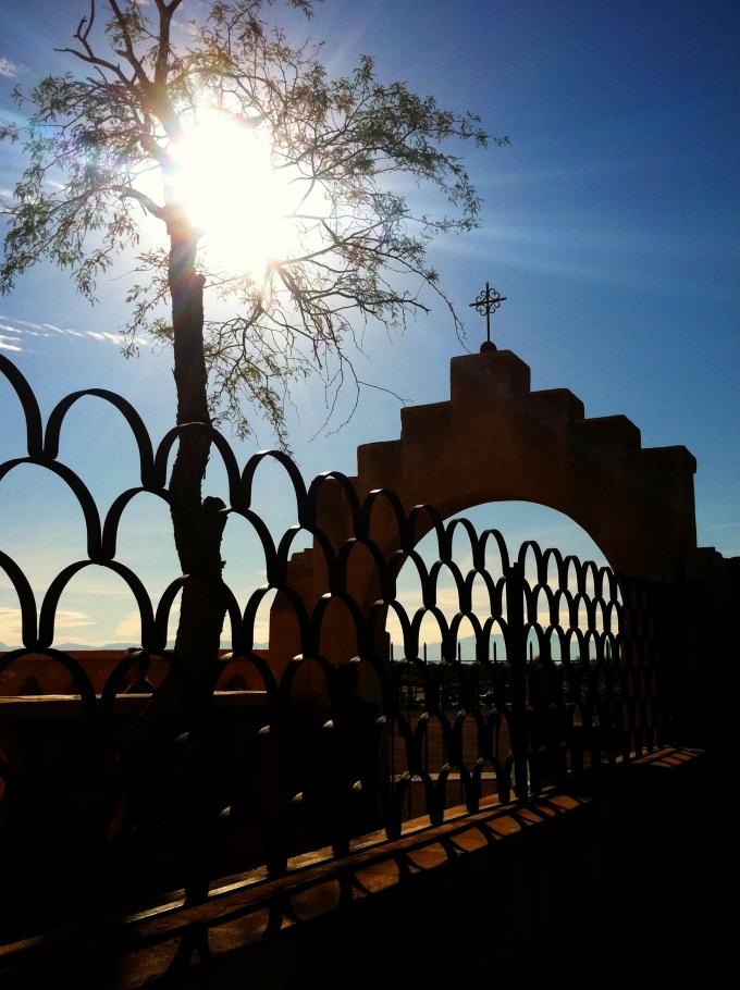 san xavier mission cemetery wall