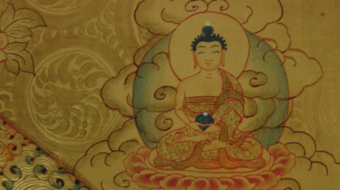 Master work from Lama Thangka Painting School in Bhaktapur