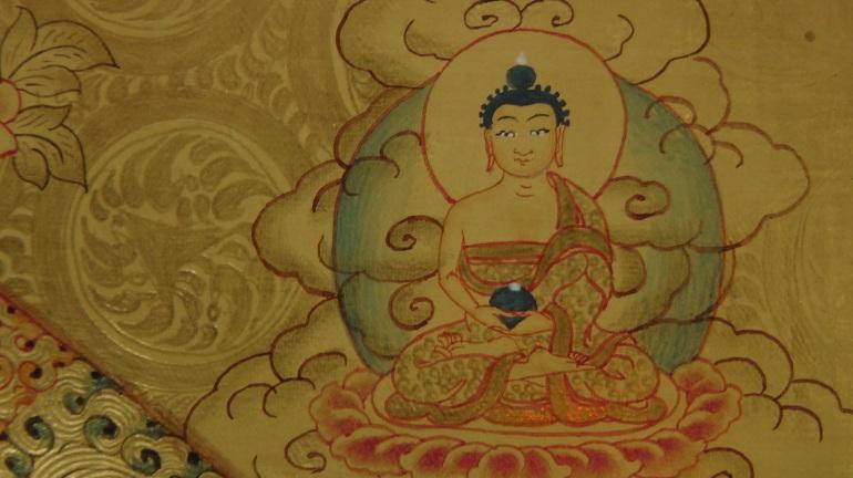 Master work from Lama Thangka Painting School in Bhaktapur
