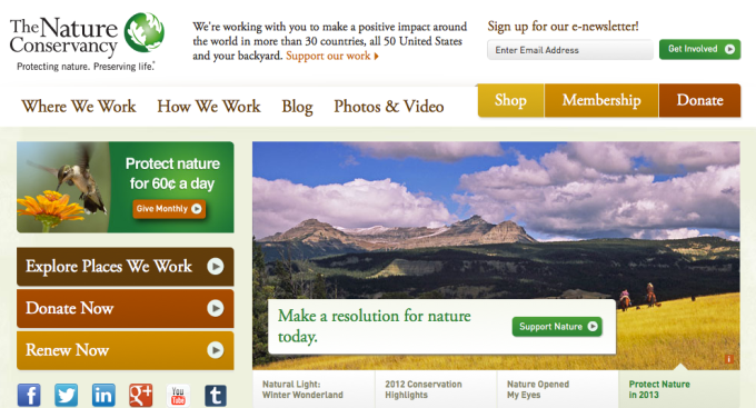 the nature conservancy website