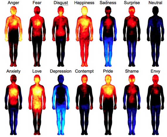 emotion body map